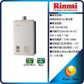 Rinnai林內 RUA-1621WF-DX 強制排氣型16L熱水器