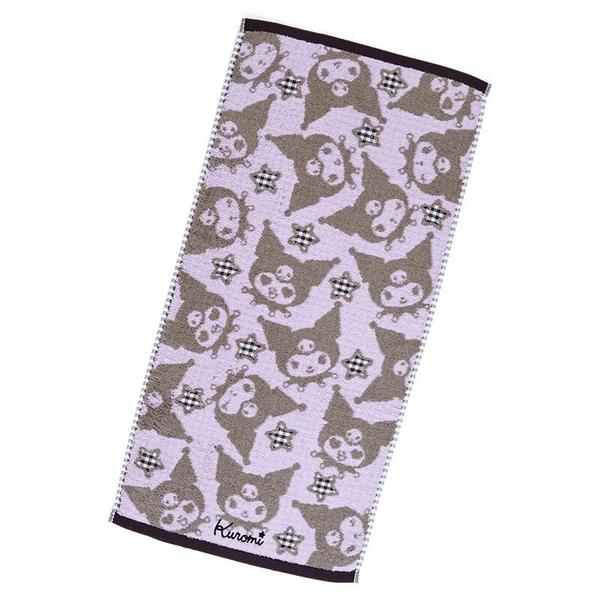 小禮堂 酷洛米 抗菌長毛巾 34x70cm (紫滿版款) 4550337-80118