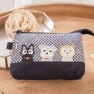 Kiro貓‧小黑貓與雪納瑞 三層 化妝包/小物收納包【820173】