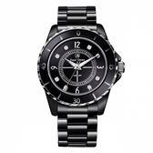Royal Crown - 39mm J12款式 全黑陶瓷腕錶 RC女錶 情侶錶對錶