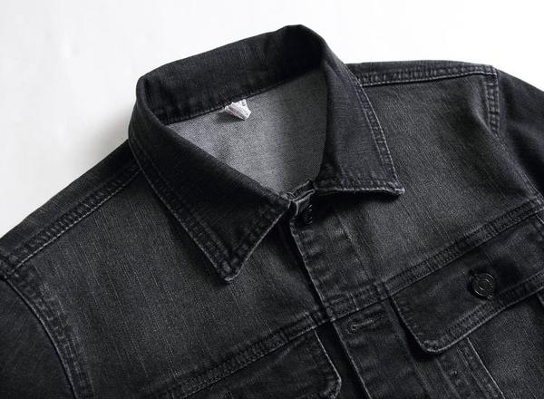 特惠 秋冬大碼深色男士牛仔衣青少年翻領夾克外套寬松休閑男上衣潮