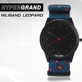 Hypergrand新加坡設計師品牌01基本款系列MILIBAND LEOPARD藍紅豹紋NW01MLEO公司貨