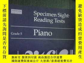 二手書博民逛書店英文原版罕見Specimen Sight-reading Tes