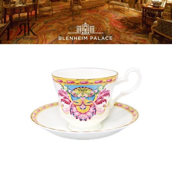 英國Roy Kirkham Grand Cabinet布倫海姆宮系列-22K金-230ml骨瓷杯盤組