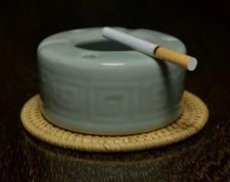 [協貿國際]  文革時期真品青瓷傳統煙灰缸 (1入)