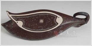 宗教用品香熏爐線香香爐鐵鏽釉雙蓮花瓣插香器
