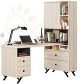 書桌 L型書桌 MK-881-1 優娜5尺L型四抽書桌【大眾家居舘】