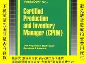 二手書博民逛書店Certified罕見Production & Inventory Manager (cpim) (passboo