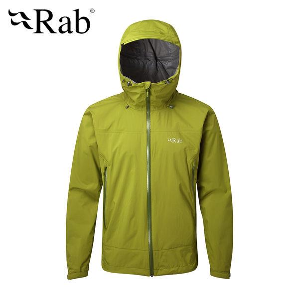 英國 RAB Downpour Plus Jacket 高透氣連帽防水外套 男款 仙人掌綠 #QWF67