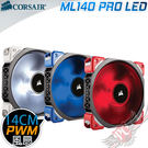 [ PC PARTY ]  海盜船 Corsair  ML140 PRO LED 14公分風扇 紅光 藍光 白光