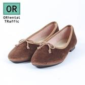 【ORiental TRaffic】經典質感絲絨芭蕾舞鞋-溫暖咖