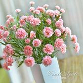 假花 模擬花套裝康乃馨花藝花卉花束絹花假花裝飾花客廳花瓶擺件擺設 果果輕時尚