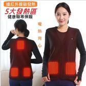【原始點溫敷】外熱源保暖背心,  護腰護背熱毯 , 低電壓安全智能溫控,  定時自動斷電 *5