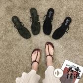 時尚夾腳拖鞋女鞋外穿百搭平底涼拖沙灘鞋潮夏天【君來佳選】