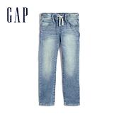 Gap男童 棉質舒適鬆緊牛仔褲 555312-淺藍色