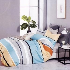 BUTTERFLY-純棉四件式被套床包組-北美風情-黃(加大)