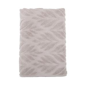 HOLA 葡萄牙純棉浴巾 葉影棕70x140cm