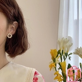 耳環潮韓國氣質網美珍珠耳釘耳夾無耳洞女耳飾女【匯美優品】
