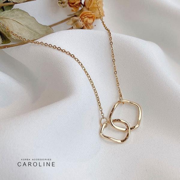 《Caroline》韓國時尚風格項鍊網紅ins簡約氣質鈦剛項鍊72621