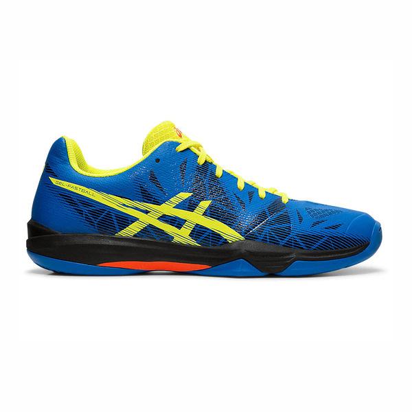 ASICS FASTBALL系列 [E712N-401] 男鞋 運動 排球 羽球 桌球 手球 緩衝 亞瑟士 藍黃
