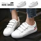 [Here Shoes]休閒鞋-皮質面料...