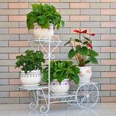花架 鐵梨花歐式鐵藝多層花架落地式綠蘿吊蘭花架子陽台客廳室內花盆架