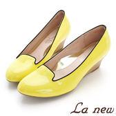 【La new outlet】 SAH系列高跟鞋 低跟 楔型跟鞋 淑女鞋-黃【女219041346】