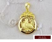 9999純金 黃金 墜飾 黃金運財雞 墜子 送精緻皮繩項鍊