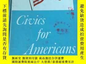 二手書博民逛書店Civics罕見for Americans (Teachers