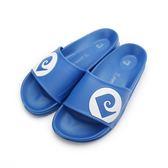 皮爾卡登 輕量運動腳床拖鞋 藍 MA69 男鞋 鞋全家福