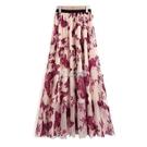 網紗長裙 新款高腰百搭重工刺繡兩層紗裙女春夏季高腰半身裙仙女長裙子