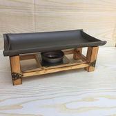 韓式不沾長方形烤魚盤酒精爐家用方形陶板烤肉烤盤無煙鐵板燒商用 igo 薔薇時尚