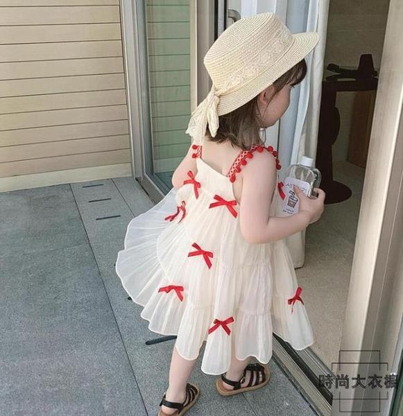 女童吊帶連身裙童裝小女孩夏款兒童公主裙子夏裝【時尚大衣櫥】