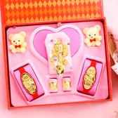 金寶珍銀樓-博士金湯匙-彌月金飾音樂禮盒(0.70錢)