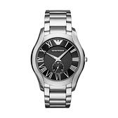 【Emporio Armani】美式羅馬時標紋路面盤時尚腕錶-時尚黑/AR11086/台灣總代理公司貨享兩年保固