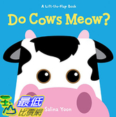 [106美國直購] 2017美國暢銷兒童書 Do Cows Meow? (A Lift-the-Flap Book) Board book