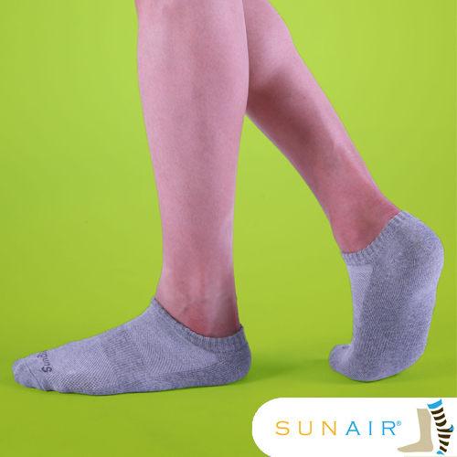 sunair 滅菌除臭襪子-標準型運動船襪L(25~29) (灰)SA1902