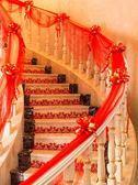 結婚婚慶用品婚禮婚房布置樓梯扶手裝飾紗幔樓梯紗套裝【聚寶屋】