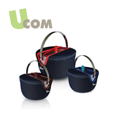 益康屋 UCOM 牛仔系列防溢提鍋附提袋19CM+16CM+14CM 0211-0301_比漾廣場