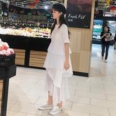 2019流行裙子春裝女裝新款韓版白色洋裝女網紗不規則層層蛋糕裙