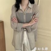 超仙薄款防曬衫女2020夏新款韓版寬鬆設計感雪紡上衣小眾長袖襯衫 夢幻衣都