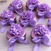 婚慶用品喜糖盒子創意婚禮糖盒心形喜糖盒結婚馬口鐵喜糖盒子【小梨雜貨鋪】