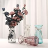 花瓶 玻璃透明束腰款鮮花乾花插花水培歐式居家客廳裝飾擺件CY潮流站