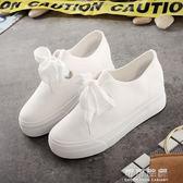 透氣百搭小白鞋女學生韓版帆布鞋內增高布鞋女鞋 可可鞋櫃