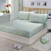 【FITNESS】精梳棉加大床包+枕套三件組-芙若拉(綠)_TRP多利寶
