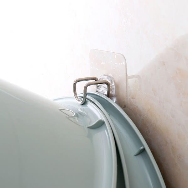 【TT】不鏽鋼臉盆掛鈎浴室強力粘鈎 衛生間牆上免打孔洗臉盆掛勾