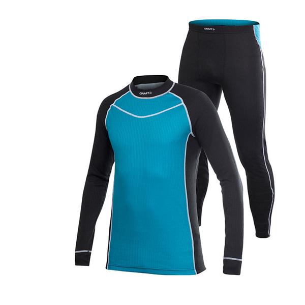 【CRAFT 瑞典 男 套裝組 排汗衣褲《亮藍》】1901654/快乾/彈性/輕量舒適/緊身衣