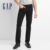 Gap男裝 1969牛仔系列休閒彈力修身男士牛仔褲 中腰長褲男 464539-黑色