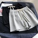 2020新款短褲女寬鬆休閒運動家居純棉外穿百搭高腰闊腿睡褲鬆緊夏 小山好物