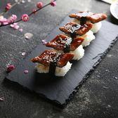 壽司碟 盤子 創意簡約黑色壽司盤披薩糕點烘焙板 天然巖石擺盤餐具牛排盤  非凡小鋪